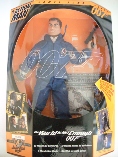 Action man James Bond traje azul de faena